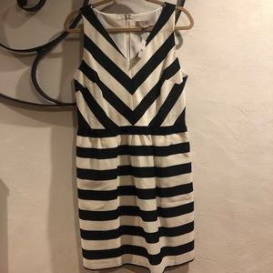 Loft dress, zipper back, pockets